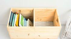 Χώρος παιδικών βιβλίων Outdoor Activities For Toddlers, Kids Toy Boxes, Diy Kids Furniture, Diy Rangement, Pallet Crafts, Toy Rooms, Kids Storage, Creative Home, Kids Bedroom