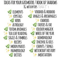 ✨ ideas BOS book of shadows