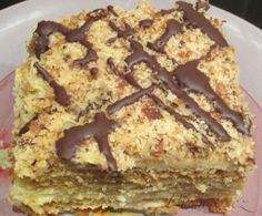 Show details for Recept - Marlenka - fantastická Slovak Recipes, Czech Recipes, Russian Recipes, Mexican Food Recipes, Sweet Recipes, Easy No Bake Desserts, Dessert Recipes, Pecan Pralines, Sweet And Salty