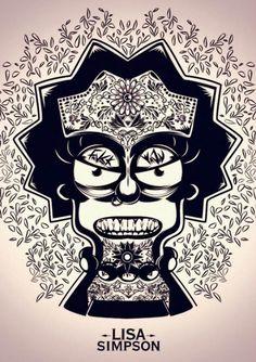 Ilustración Lisa Simpson