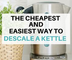 Learn how to descale a kettle with this easy and fast cleaning hack! It's cheap to do and gives you a spotless kettle in minutes.