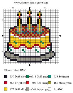 cuisine - kitchen - gâteau - point de croix - cross stitch - Blog : http://broderiemimie44.canalblog.com/