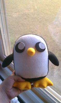 MADE TO ORDER, Inspired by Adventure Time, Gunter Plush :3. $50.00, via Etsy.