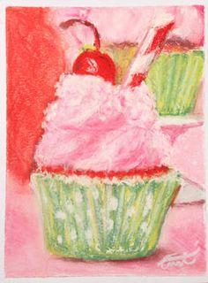 Cherry Limeade Cupcake - Saatchi Artist