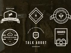 Mega Bundle 1100 Logos and Badges Vintage, Hipster. Use these templates in Logo Design Label Design Badge Design Apparel Design Typography Design Web and Banners Stamps & Stickers T-shirts Retro Logos, Vintage Logos, Vintage Hipster, Vintage Stuff, Badge Design, Label Design, Typography Design, Logo Design, Design Web