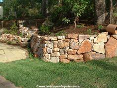 rock garden retaining wall | Retaining Walls Dry Stacked Rock Retaining Wall, Landscape Information