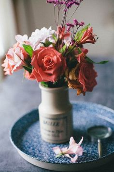 Get some fresh flowers and put them somewhere you will see all the time