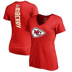 Eric Berry Kansas City Chiefs NFL Pro Line Women's Backer Name & Number T-Shirt - Red