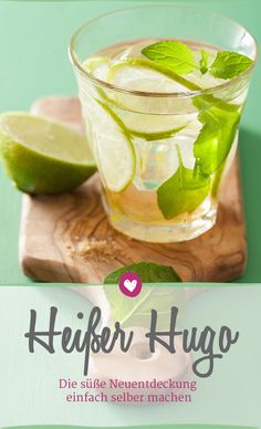 Hot Hugo: This is how the recipe works at home Party Drinks, Cocktail Drinks, Smoothie Drinks, Smoothies, Party Buffet, Food Words, Slushies, Food And Drink, Snacks