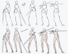 Self Practice - Swordsman Poses Pack by AzizlaSwiftwind on DeviantArt