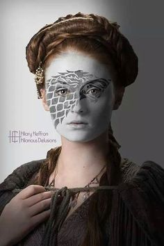 Sansa Stark  | Game of Thrones War Paint by Hilary Heffron - Hilarious Delusions