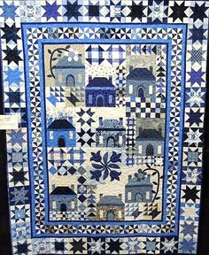 Louisa says, The pattern for this quilt, called Meet Me At the Manor, appeared in Quiltmaker Magazine in 2010-2011. The clear, restful blue monochromatic ...