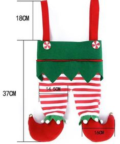 Elf Stocking Elf pants Embroidered Christmas by PryncessStitch Christmas Sewing, Handmade Christmas, Diy Christmas Gifts, Christmas Holidays, Merry Christmas, Family Christmas Stockings, Xmas Stockings, Christmas Projects, Christmas Crafts