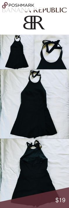 📷 Banana Republic Black Romper (NWOT) Like New With Abosolutley No Rips Or Tears! Grab This Fast Before It Is Gone! Perfect For The Brisk Fall Weather. Accepting All Reasonable Offers and Able To Ship The Same Day! 📷  Great Condition   No Stains   Fully Inspected  Size: 2 Banana Republic Dresses