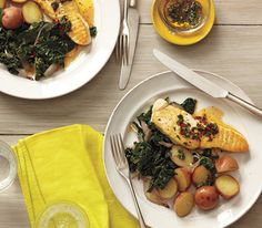 Halibut With Spicy Lemon-Thyme Vinaigrette