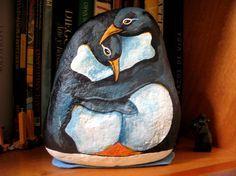painted penguin stones - Google zoeken