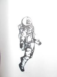 Image result for astronaut drawing