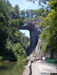 Natural Bridge located in Blue Ridge Mountains of Virginia