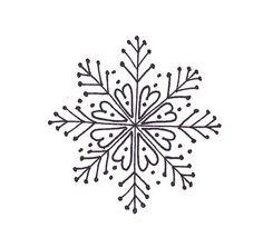 Вышивка снежинки