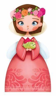la fiancée au beurre salé - work by Emanuella Collin Illustration Mignonne, Art Mignon, Girls Characters, Children's Book Illustration, Clipart, Paper Dolls, Cute Art, Cute Kids, Art For Kids