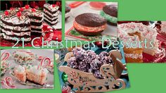 Looking for some easy Christmas desserts to make for holiday parties this weekend? Then you're going to love our collection of 21 easy Christmas desserts including Christmas cakes, holiday candy, decadent brownies, cheesecakes, and more.
