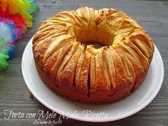 Una nuova torta di mele con anche miele e ricotta un dolce per la merenda di tutta la famiglia Ricetta dolce al forno La cucina di ASI