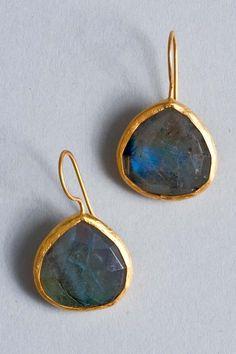 Labradorite Earrings by Coralia Leets #Earrings #Labradorite #Coralia _Leets