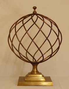 Vintage Style Architectural Brass Sphere by AgingBeautyBoutique