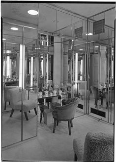 William S. Paley [residence], 29 Beekman Place.  All mirrors including built in vanity.