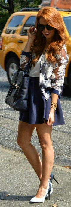 burnout Floral bomber jacket with flared skirt