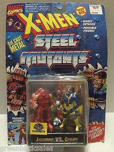 (TAS008576) - Toy Biz Marvel X-Men Steel Mutants Figure - Juggernaut vs Cyclops