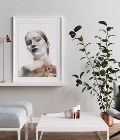 Beautiful art prints illustrated by Norwegian artist and designer Linda Skaret, available in several sizes. Nordic Art, Scandinavian Art, Living Room Interior, Figurative Art, Painting & Drawing, Gallery Wall, Art Prints, Beautiful Ladies, Drawings