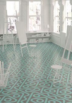 ROLL by DSIGNIO  |  HARMONY  |  floor tiles  |  Hexagon tiles  |  encaustic cement tile  |  porcelain tiles  |  25x29cm  |  Signature collections