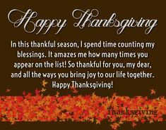 Thanksgiving Love Quotes for Her - Thank You Sayings Thanksgiving Day 2019, Thanksgiving Quotes Funny, Happy Thanksgiving Images, Wish Quotes, Love Me Quotes, Sweet Quotes For Her, My Family Quotes, Thank You Poems, Forever Love Quotes