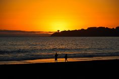 Sunset @ Stinson Beach by Sudheer., via Flickr