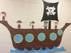 Library pirate ship treasure hunt