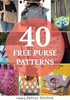 I've found 40 free bag pattern tutorials that I love! There is a free bag pattern for any sewing level. Sewing Hacks, Sewing Tutorials, Sewing Crafts, Sewing Projects, Diy Crafts, Sewing Ideas, Diy Bags Patterns, Sewing Patterns, Free Tote Bag Patterns