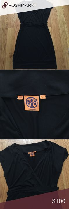 Tory Burch dress Cute Cotton Tory dress. Light weight with attached elasticize belt. Skirt hits at the knee. Excellent condition--cute with flip flops or heels! Tory Burch Dresses Midi
