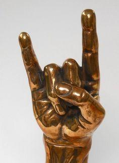 Image result for rock sign hand sculpture