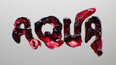 Water Typography CGI by Creative Gentleman