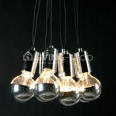 Hanglamp lampenpendel 10 bollampen @LIVINGshop, stijlvol wonen webshop