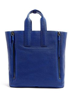 3.1 Phillip Lim Cobalt Blue Shark Embossed Pashli Large Tote, $1,106.87