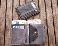 12ef3a99f899d Geldbörse aus Leder Leder-Geldbörse Herren Geldbörse Portemonnaie Herren