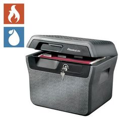 Sentry®, Safe .65 Cubic Ft. Fire- Safe Waterproof File UL Classified ½-Hour Proven Fire Protection, Privacy Key Lock, ETL Verified Waterproof, In-lid Holder for CD's & DVD's Compare product