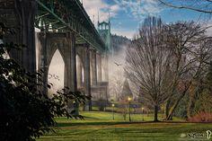 St. John's Bridge by Ben Arboleda on 500px