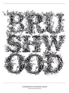 brushwood lettering | THE BRUSHWOOD POSTER I