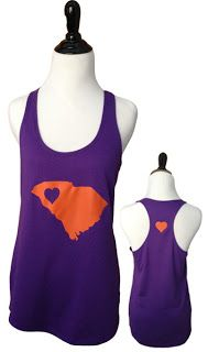 Clemson Girl Giveaway - Win this super cute Clemson state gameday tank from @Tailgate Queen !