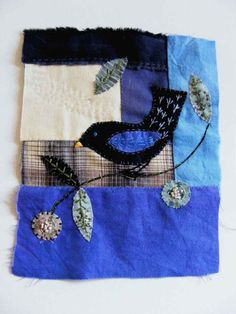 blackbird - original embroidery art. $60.00, via Etsy.