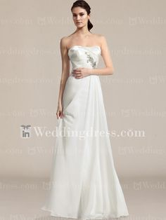 Strapless Chiffon A-Line Wedding Gown BC731N