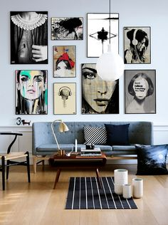 stylish Wonderful Wall Art Gallery Design Ides Ideas For Living Room Decorating Your Home, Diy Home Decor, Interior Decorating, Interior Design, Art Decor, Decoration, Decor Ideas, Room Inspiration, Design Inspiration